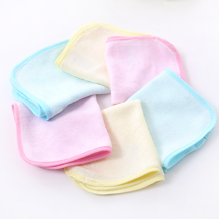 Wholesale bibs bandana bibs Pure cotton antibacterial small squares kindergarten children small towel towels solid bibs