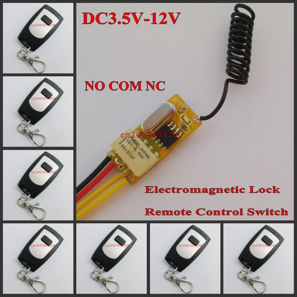 Wholesale Access Control System V V V V V V V Electromagnetic Lock Remote Control Switch Wireless Door Open Close NO COM NC