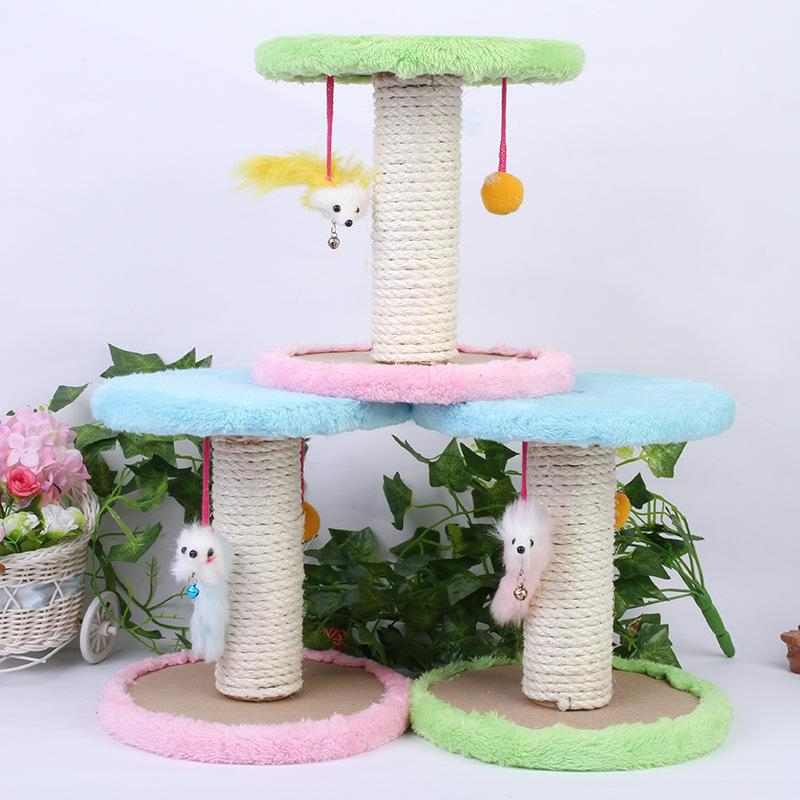 Wholesale Rascador Gato Double Hanging Sisal Mouse Cat Scratch Board To Practice Grasping Tools Biting Cat Climb Favorite Toy
