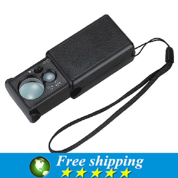 Wholesale Hot selling x x led light Magnifier Jewelery Identify Pullout magnifying glass Currency Detecting Loupes