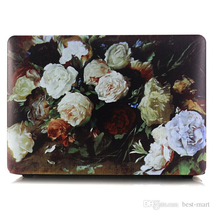 Wholesale New Picture Oil painting Cover Case For Macbook Pro Retina New Mac Macbook Air Inch Hard Protective Cat Logo