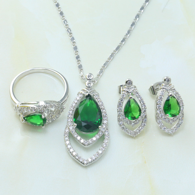 african bead patterns - S215A Women pattern African fine Platinum Plated jewelry droplets bead jewelry sets necklace earrings rings