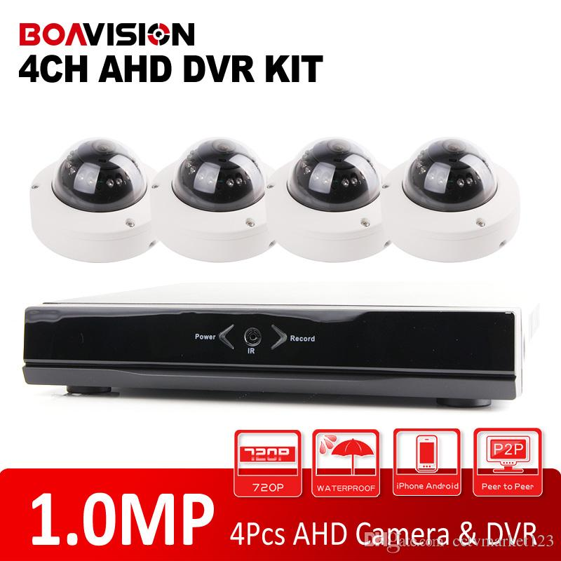Wholesale 4CH Full AHD DVR FPS Real Time CCTV HDMI Output DVR NVR Kit With MP P Outdoor Dome Security Camera IR Night Vision Video System