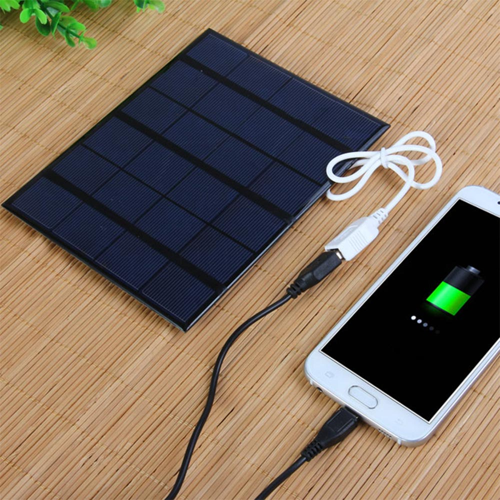 Wholesale Hot sale New v w MA Solar Panel Power Portable Solar Charger Battery for Mobile Phone Mp3 Mp4