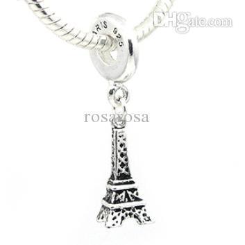 Wholesale Sliver Bead Charm European PARIS Eiffel Tower Pendant Beads Fit Pandora DIY Bracelet amp Bangle Jewelry H1030