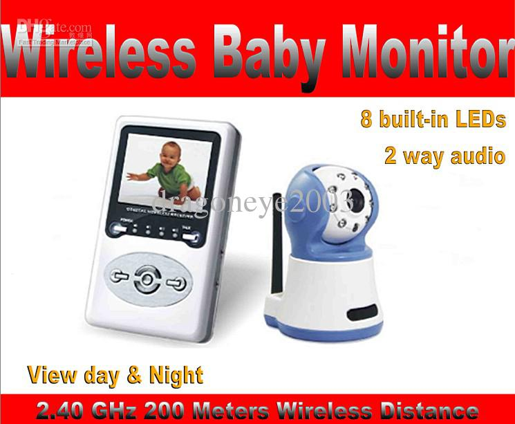 Wholesale Nasasafe GHz Wireless Baby Monitor Kit TFT LCD Meters Wireless Distance Night Vision M Built in Li Battery Lasts for Hrs