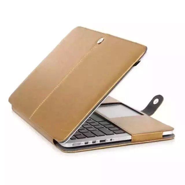 Wholesale Golden PU Leather Case Laptop Cover Bag Sleeve For Macbook Inch Air quot quot Pro quot quot Pro Retina quot quot
