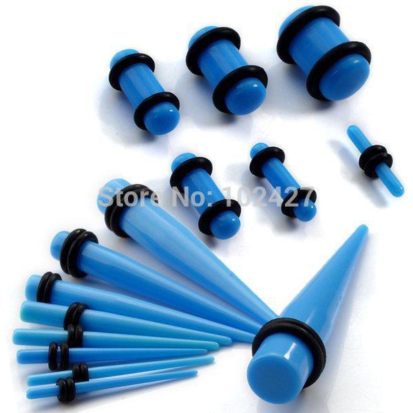 Wholesale Ear Taper Plug Kit mm mm Gauges Expander Set Stretchers Body Jewelry Ear Plug Set Drop Free