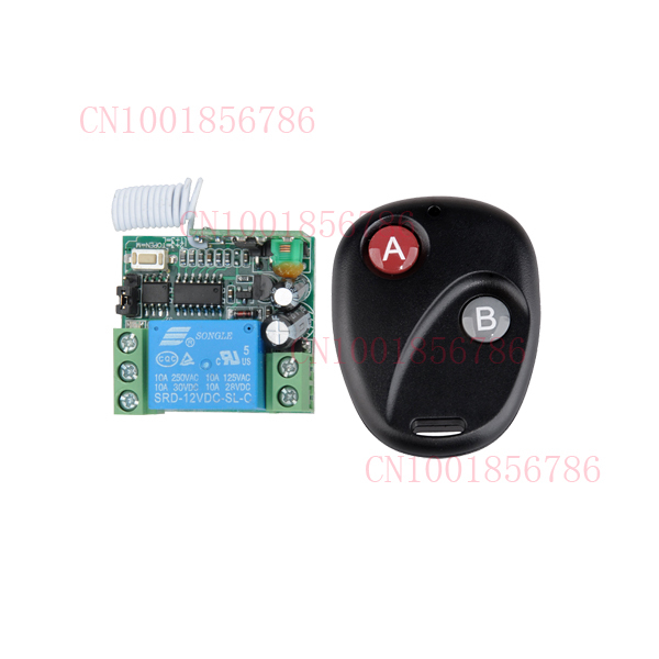 access control wireless - DC v A CH wireless RF Remote Control Switch Transmitter Receiver For Access door Control System