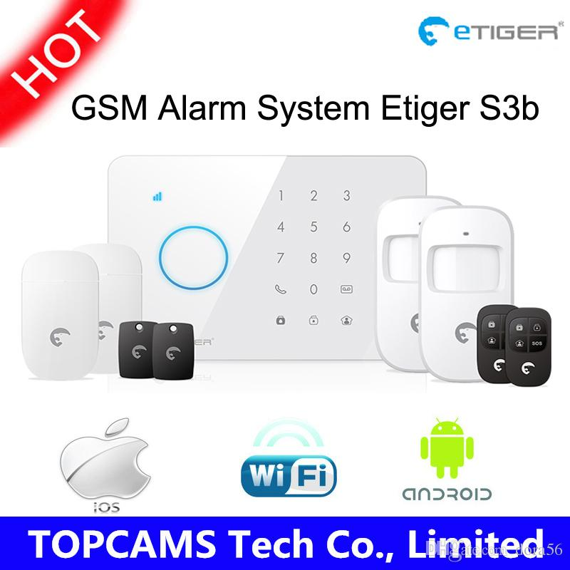 armed personal security - etiger S3b Wireless security system with GSM transmitter mhz Fully fledged control panel Arm disarm home alarm system