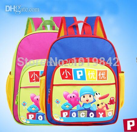 Wholesale POCOYO Cartoon School Bag Kindergarten Children s Backpacks Boy And Girl Nursery Student Cut Schoolbag Kids Gift