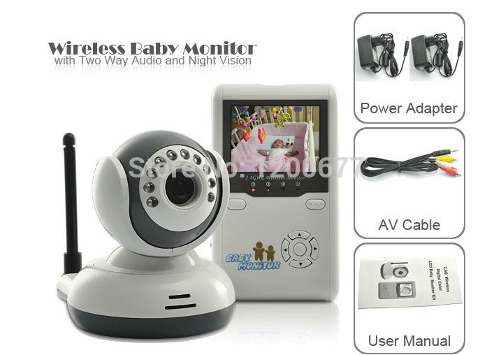 Electric baby intercom systems - New Baby Monitors baba eletronica inch LCD IR Night vision Intercom VOX System Zoom CHs baby camera nanny babysitter