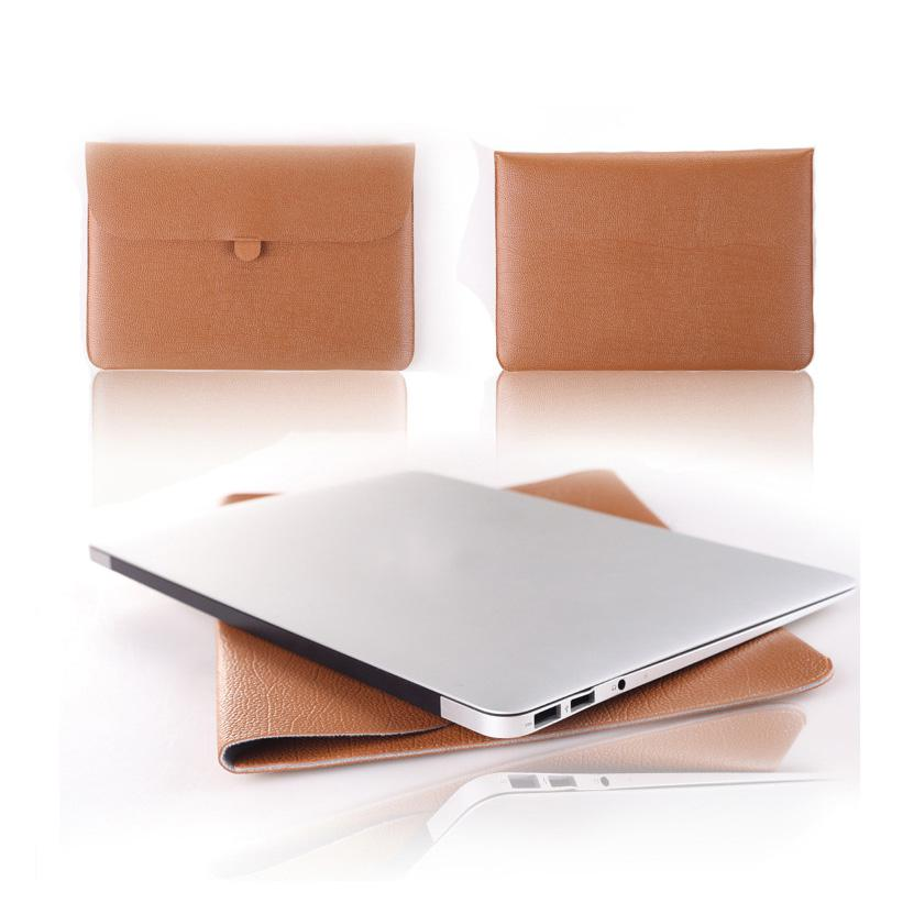 Wholesale Leather Laptop Envelope Case Carry Sleeve Bag Cover For Macbook Pro Air quot