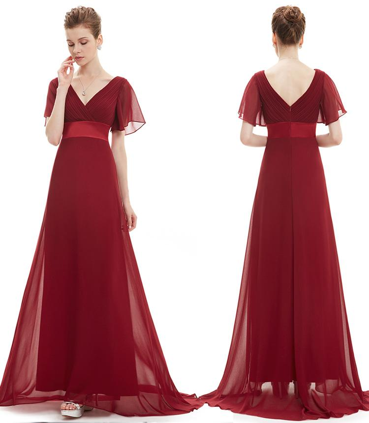 applied flooring - The new summer ms v neck tall waist and various occasions apply to evening dress YEU