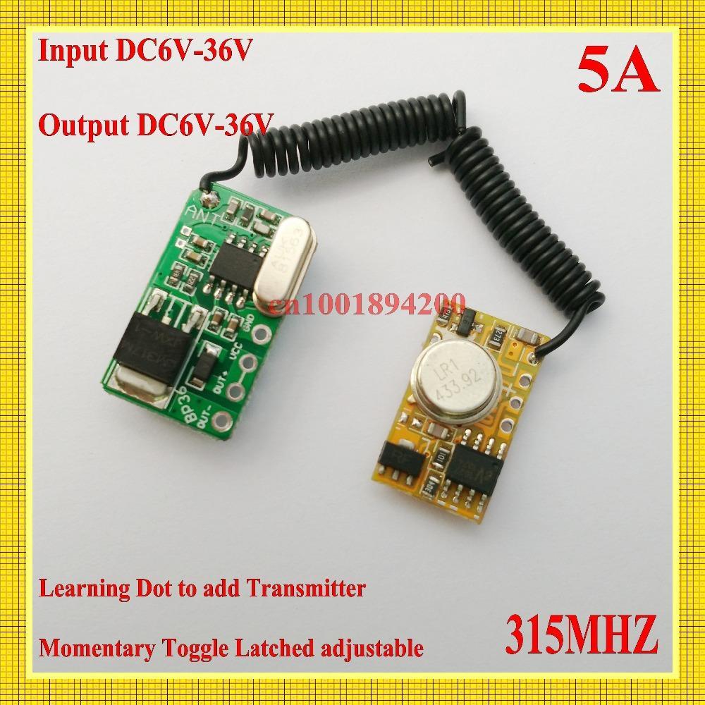 Wholesale DC6V V RX DC3V V TX RF Remote Control Switch Mos Contactless Receiver Power ON Transmitting Transmitter Trigger M T