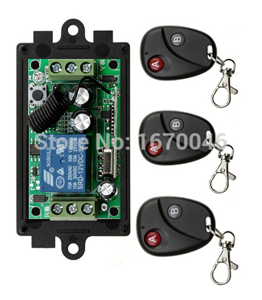 Wholesale New DC12V CH RF Wireless Remote Control Switch System Transmitter with Two button Receiver Smart Home Switch