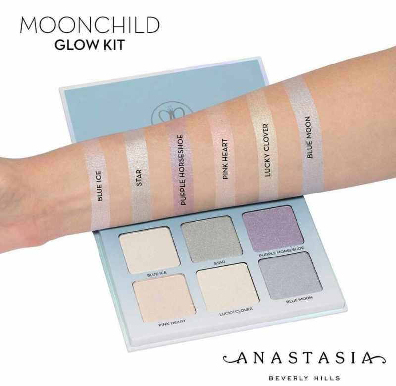 Wholesale In Stook Tooop ABH Glow Kit Moonchild Sweet Highlighters Makeup Face Blush Powder Blusher Palette Cosmetic Sweet Moonchild