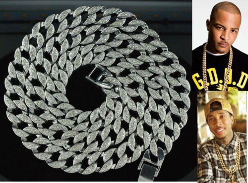 iced out jewelry - Hip Hop Bling Iced out quot Simulated Diamond mm Cuban Link Chain Necklace Men s Jewelry