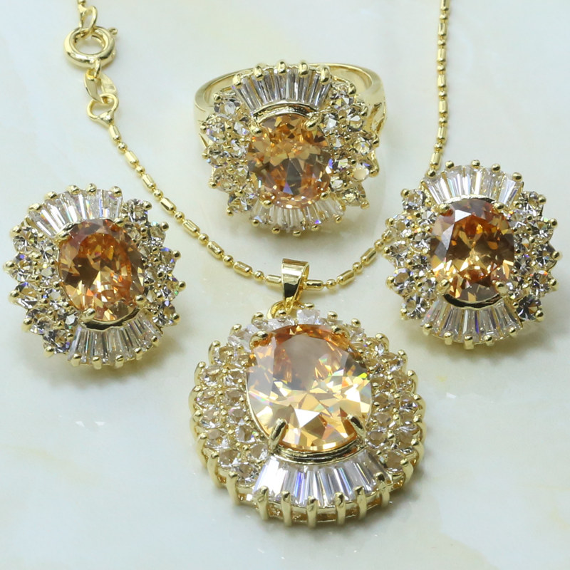 Wholesale 9062 New Nigeria Wedding Africa Bead Women Fashion Set Jewelry Round K Gold Wedding Jewelry Set