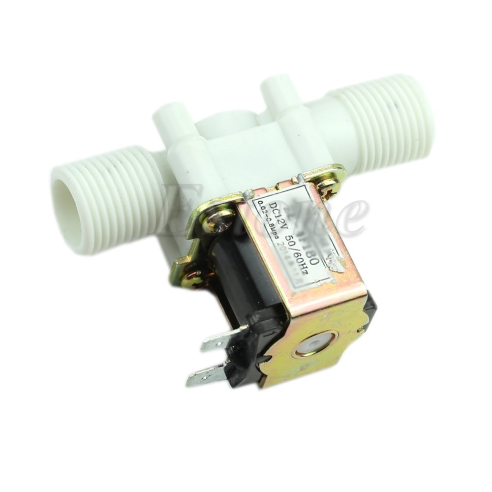 Wholesale New V Electric Solenoid Valve Magnetic DC N C Water Air Inlet Flow Switch quot