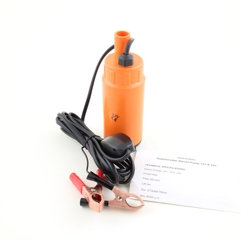 Wholesale High Quality DC V V Plastic Submersible Diesel Fuel Water Oil Pump Car Camping Portable L Per Minute