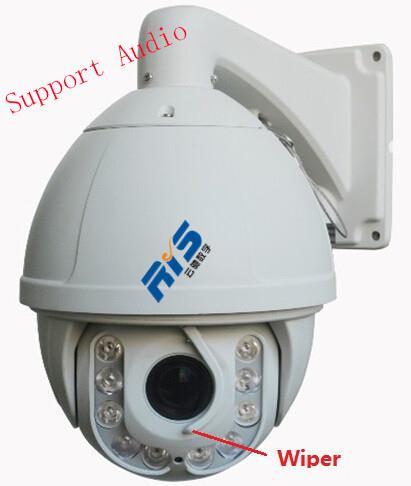 CCTV cúpula de alta velocidad 7 pulgadas ptz 1080p ip cámara ir 18x zoom óptico 12x zoom digital sensor ccd apoyo audio p2p ONVIF ir 150m desde ptz 12x fabricantes