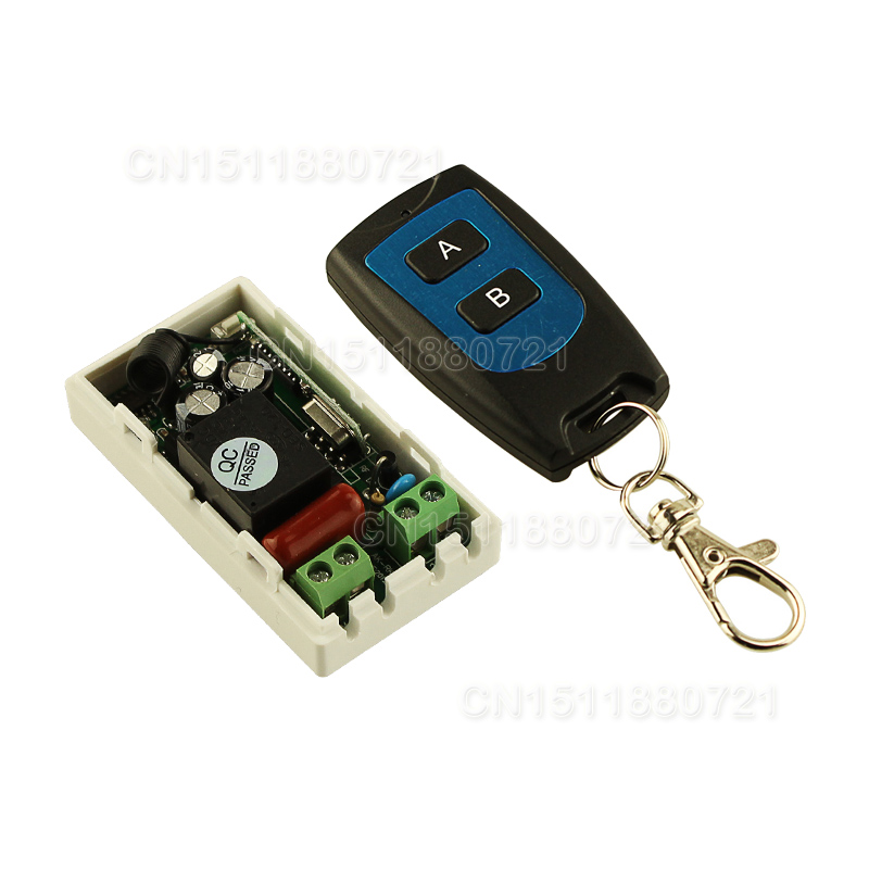 Wholesale Best Price AC V CH Wireless Remote Control Switch System Receiver Transmitter Buttons Waterproof Remote mhz mhz