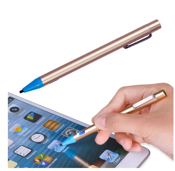 android active pen - 2mm Active Stylus Capacitive Metal Pen For iPhone iPad Android Samsung USB Charging Universal Screen Touch Pen Tablet PC