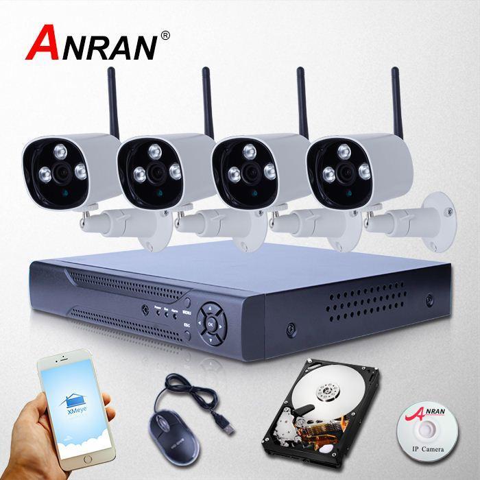 ANRAN Nouveau 8CH NVR 2TB HDD 2MP 1080P sans fil vidéo Surveillance IP Caméra WIFI CCTV système pour Home Array IR Security Monitor