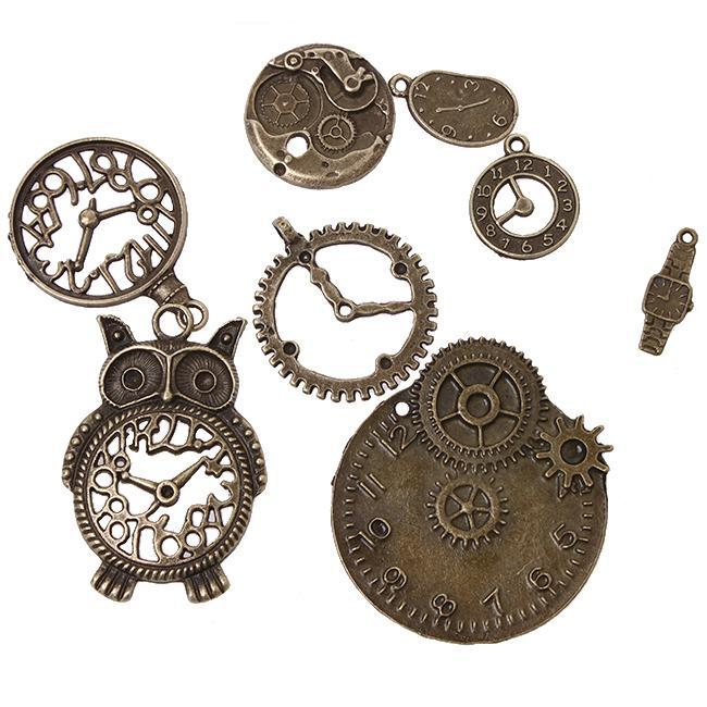 Wholesale New Promotion Assorted Charms Antique Bronze Plated Alloy Pendant Jewelry Findings
