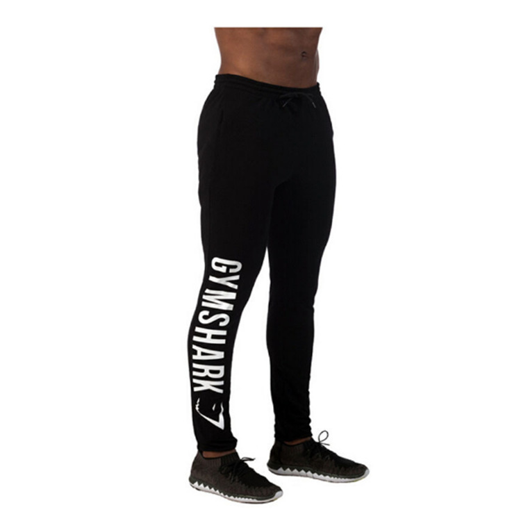 Wholesale 2016 Gym New Clothing Man Pants Casual Skinny Trousers Bodybuilding Gym Shark Pants Men Sports Joggers Cotton Elastic Sweatpants