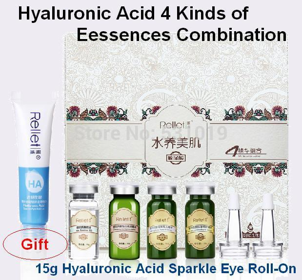 Wholesale Hyaluronic Acid Kinds of Sets Serum Moisturizing Whitening Firming Anti Wrinkle Gift Sparkle Eye RollOn Essence Skin Care