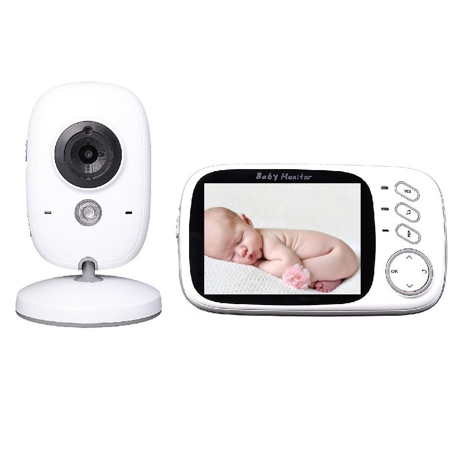 Baby Monitors 3.2inch LCD IR Night vision 2 way talk 8 lullabies Temperature monitor Multi-language video nanny baby monitors