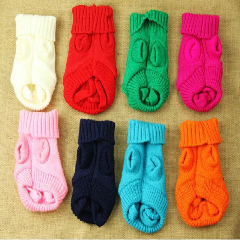 Wholesale Delicate Small Pet Dog Cat Clothes Winter Warm Knitwear Sweater for Little Dogs Hot Selling