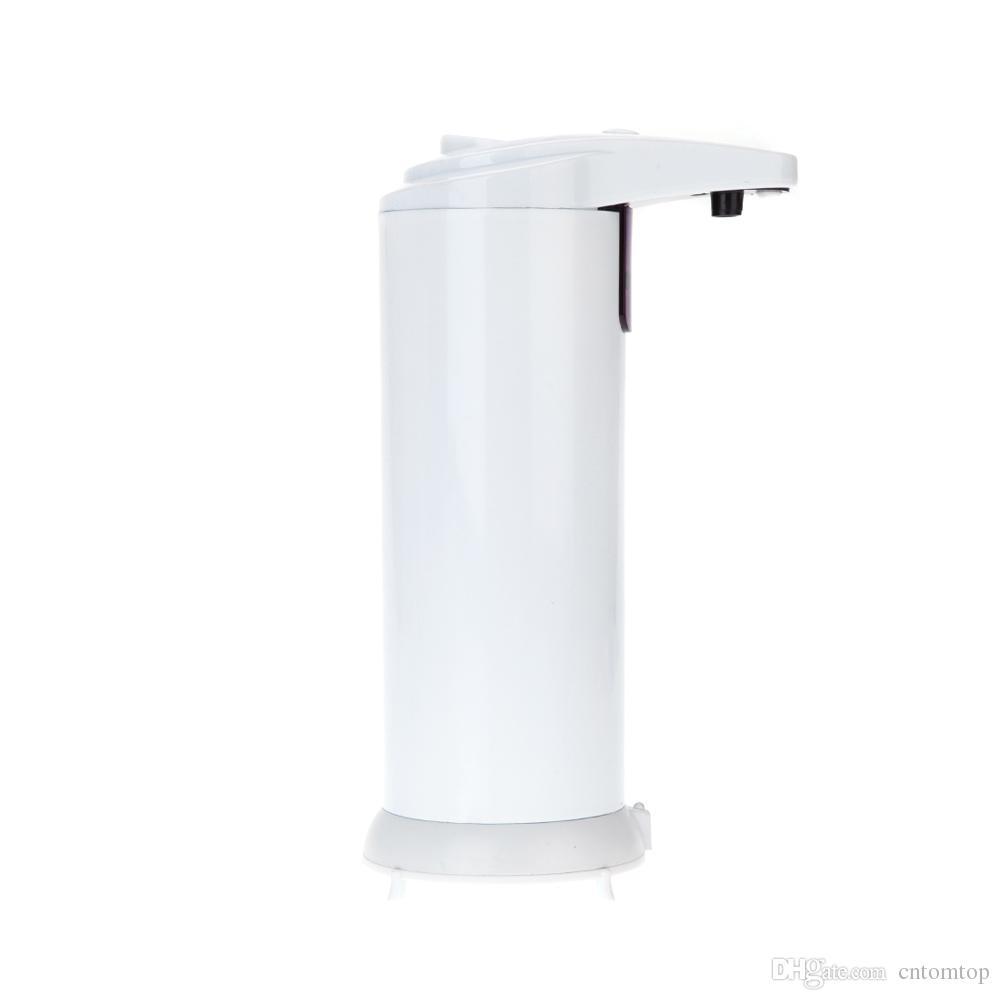 Wholesale Soap Dispenser Automatic IR Sensor Stainless Steel Liquid Hand Free Sanitizer ML Bathroom Accessories H12596 DHL Freeshipping