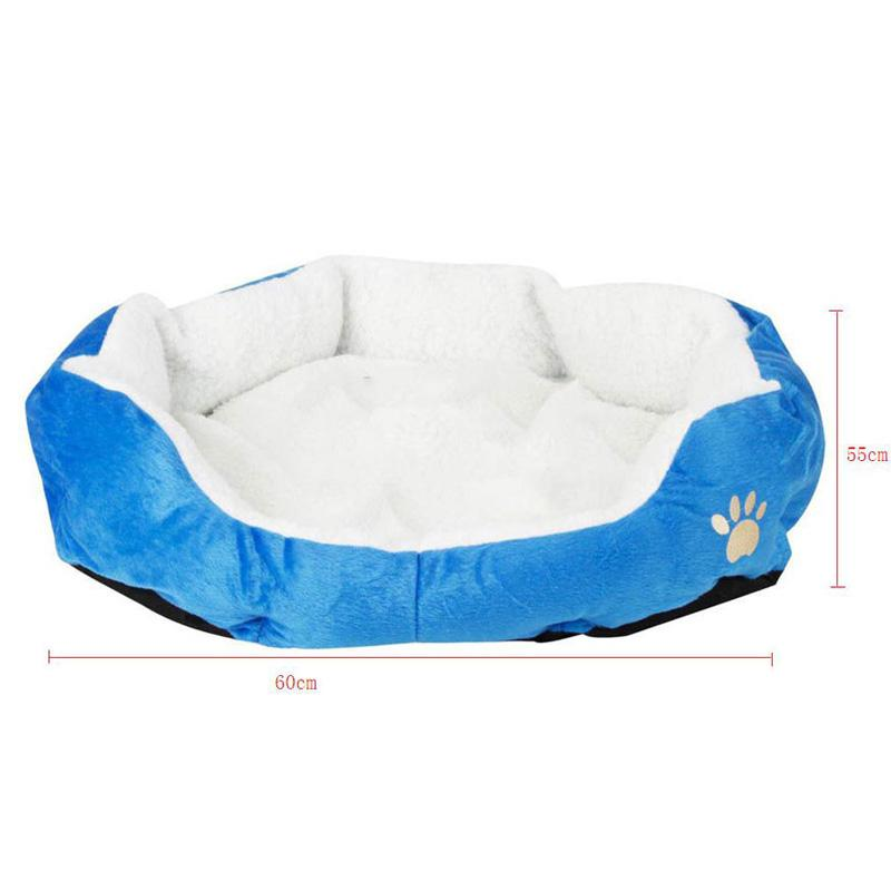 Wholesale Cute Paw Print Cats Puppy Beds Comfortable Pets Dog Kitten Beddings House Nest Pad Soft Fleece Bed