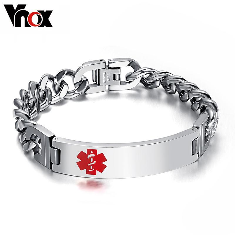 Wholesale Men s ID bracelet amp bangle engraving medical stainless steel mens jewelry never rust top quality