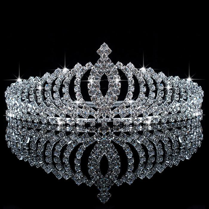 Wholesale 2016 Luxury Wedding Flower Girl Crowns Children Girls Sparkling Rhinestone Tiara Head Pieces In Stock Ready To Ship L001