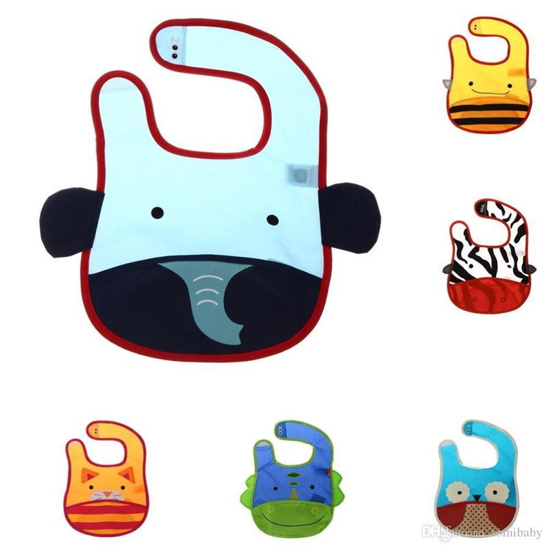 Wholesale 10pcs Lovely Cartoon Animal Baby Bib Clothing Waterproof Slabbers Towel Baby Bibs burb Cloths New Hot Infant Kids Bib Acessorios