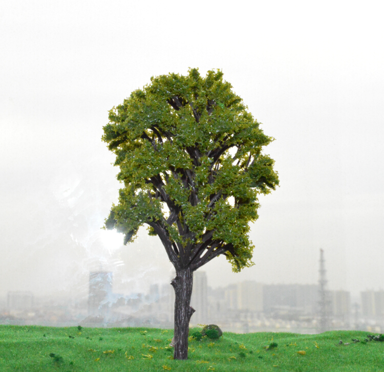 architectural model trees - 199MM middle green color Railroad Layout Architectural model making materials scale plastic model tree
