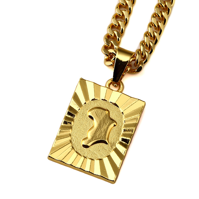 africa punk - 2016 k Gold Plated Africa Map Hip Hop Necklaces Punk Gifts for Men Mens HipHop Chain Necklace Women Boy Girls Jewelry