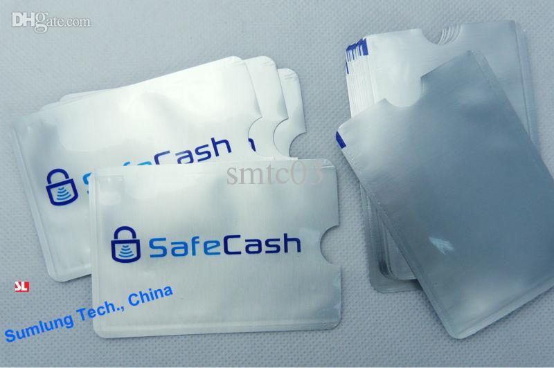 Credit Card atm card sleeve - 100pcs Anti Scan RFID Blocking Sleeve for Credit Card Secure your Identity ATM Debit Contactless IC Card Protector Holder Blocker