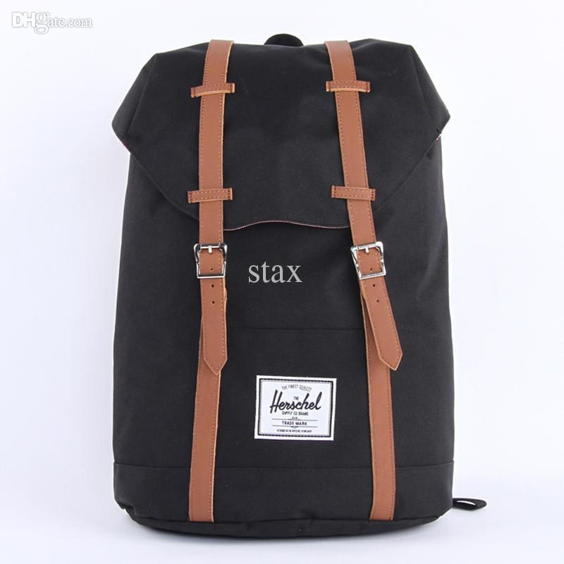Wholesale Herschel Bag Brand Black Heritage Travel Bolsas Mochila Masculina Classic Laptop Vintage Women Men Backpack Luggage Herschel Bag
