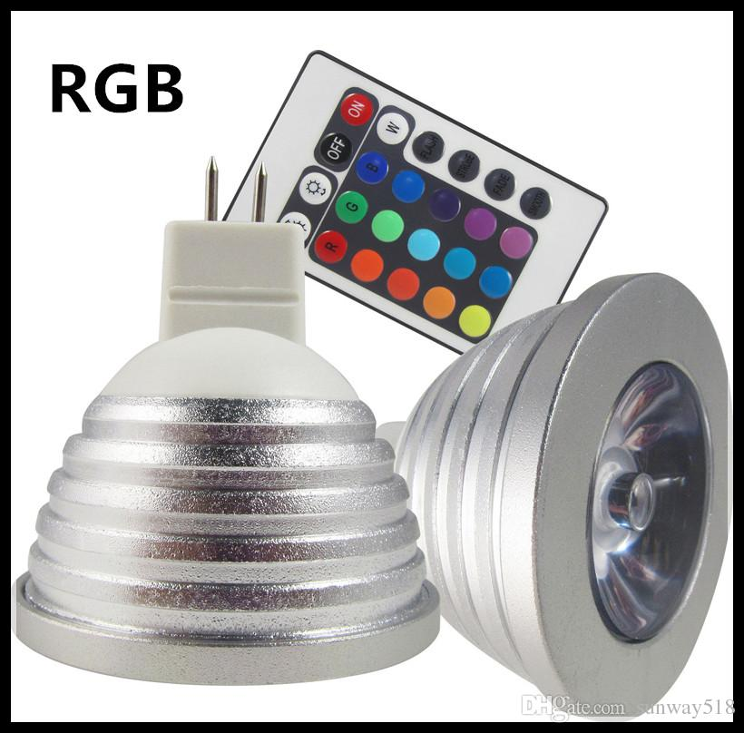 american spotlight - American hot sales for Outdoor light MR16 W RGB Color Changing LED Light Bulb Lamp AC DC V IR Remote Control led blubs power bright