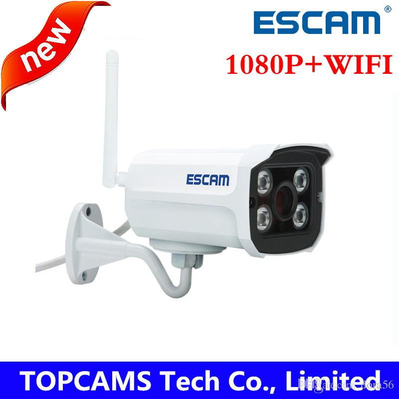 Wholesale ESCAM QD900 WIFI MP full HD Network IR Bullet Camera p Night vision IP66 onvif mm Lens wireless ip camera