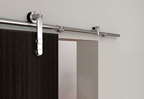 Wholesale KIRIN DBU FT Stainless Steel Single Wood Barn Door Hardware Interior Top Mounted Sliding Roller