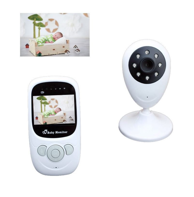 battery com - New baba eletronica com camera monitor inch LCD IR night vision Intercom Temperature monitor Rechargeable Battery