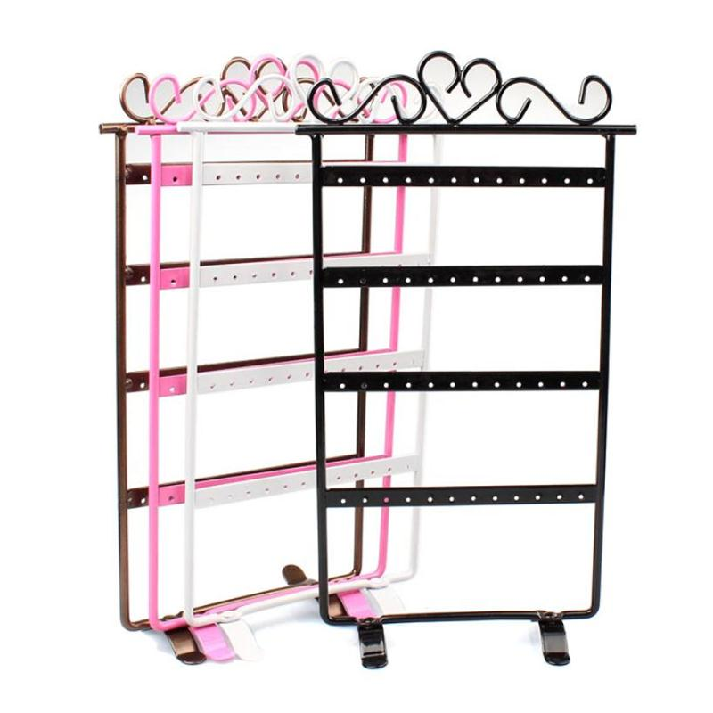 Wholesale New Hot Sale Fashion Colors Hole Earrings Jewelry Display Rack Metal Stand Holder Showcase
