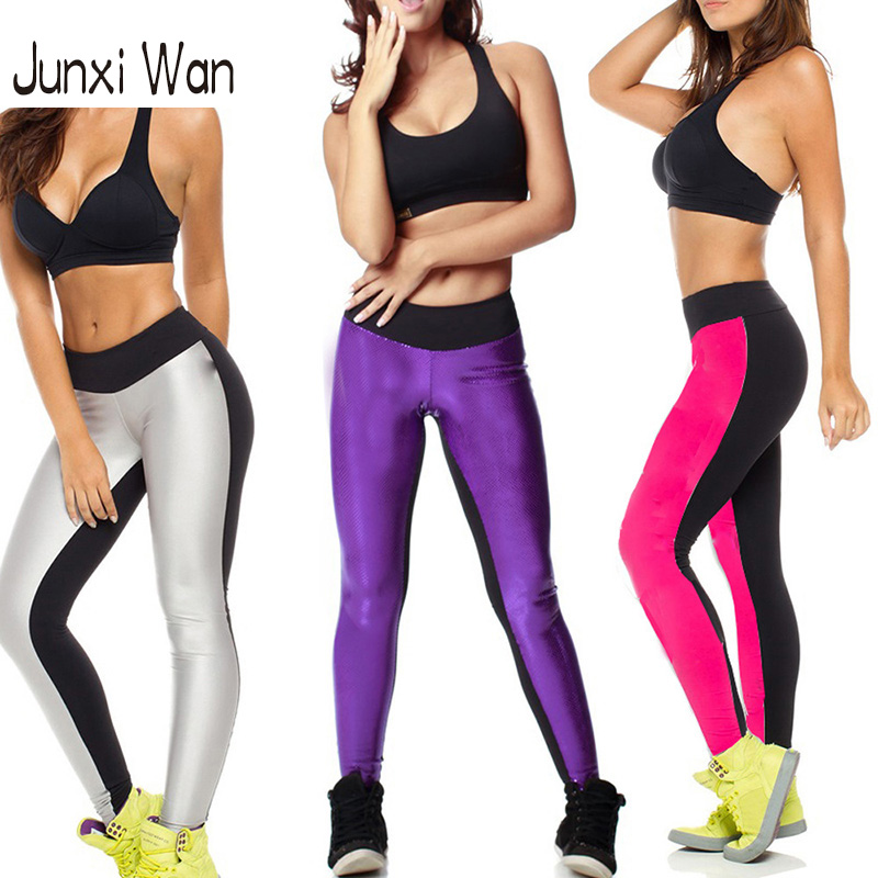ab red - Women Double AB Color Side Sports Leggings Plus Size Slim Workout Fitness Elastic Stretch Gym Punk Yoga Pants WA0058