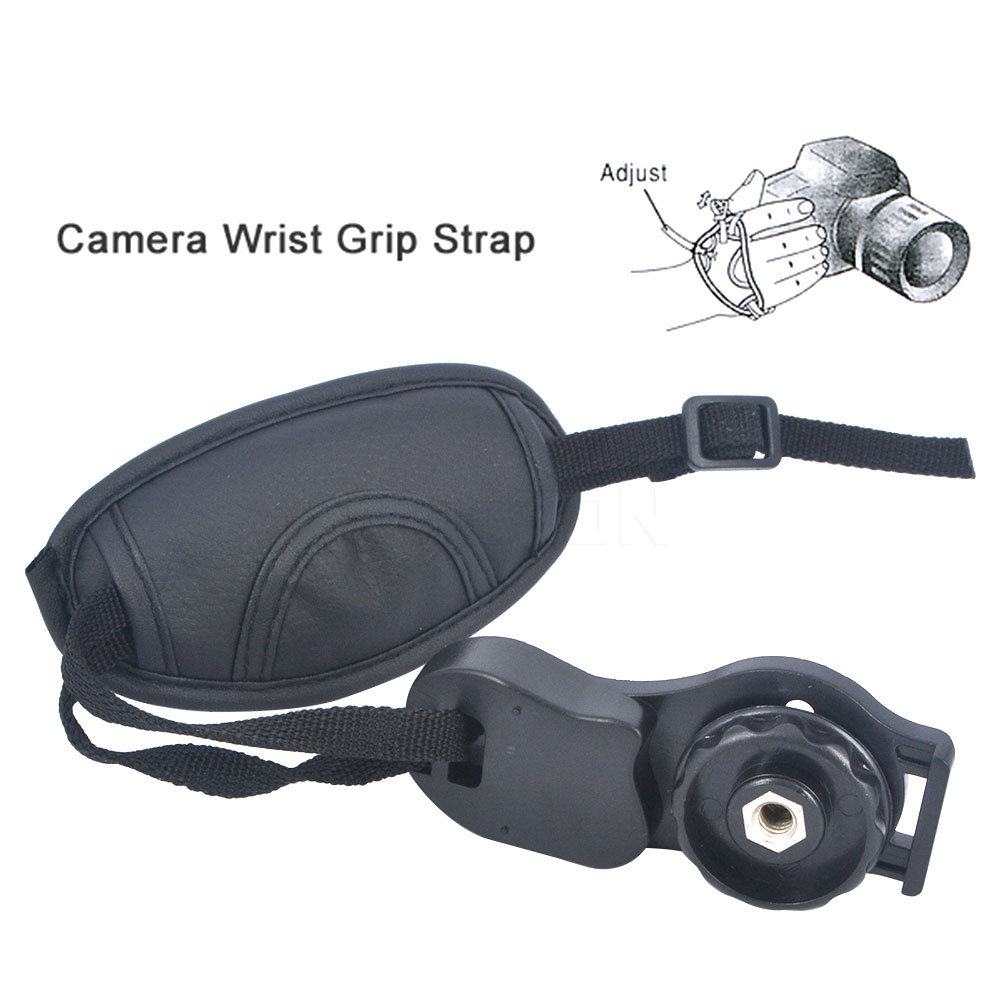 Wholesale High Quality Camera Leather Grip Wrist Hand Strap Leather Grip For NIKON D7000 D5200 D5100 D5000 D3200 Canon Sony Brand